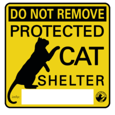Protected Cat Shelter Sticker
