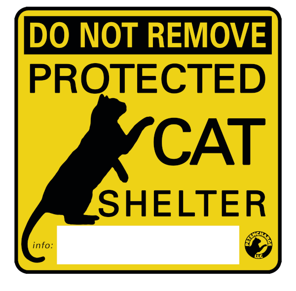 Protected Cat Sticker